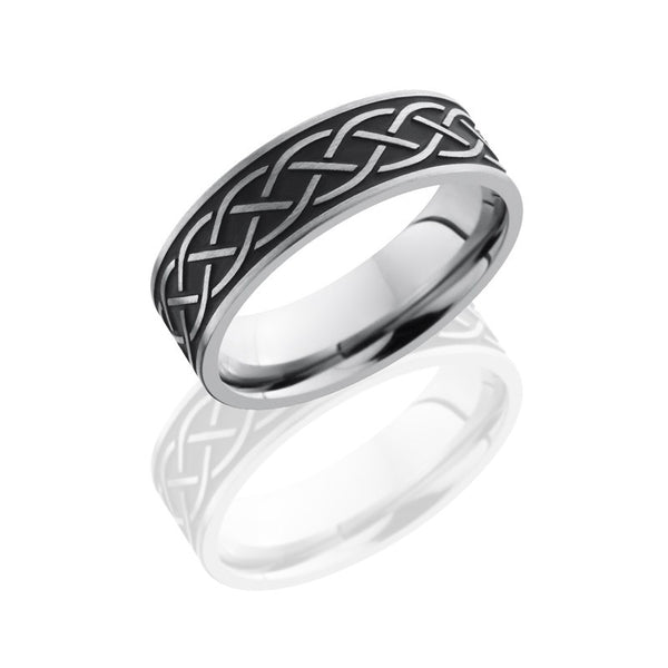 Antique Celtic Pattern Titanium Band