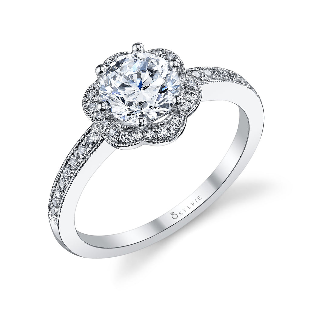Sylvie Collection Lilianne Diamond Engagement Ring