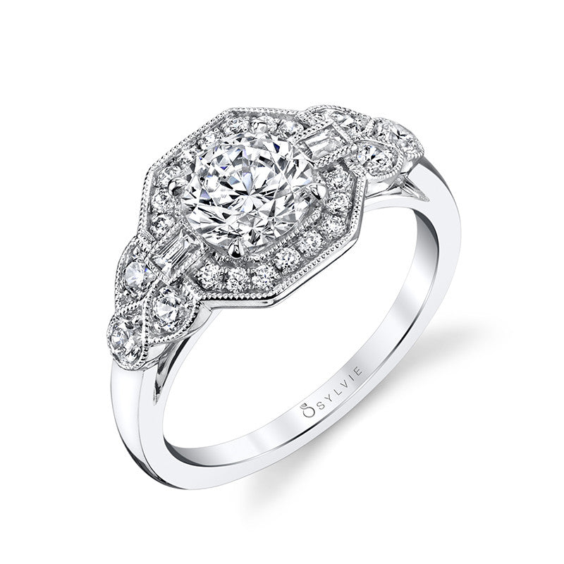 Sylvie Collection Francesca Diamond Engagement Ring
