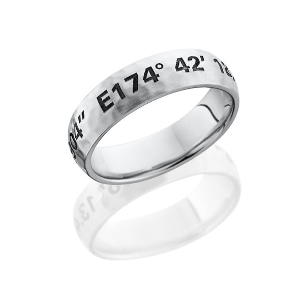 Coordinates Cobalt Chrome Hammered Band
