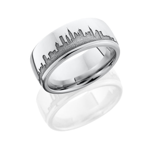 New York City Skyline Laser Carved Band
