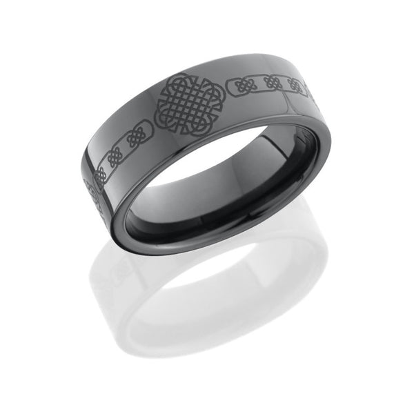 Celtic Design Tungsten and Ceramic Band