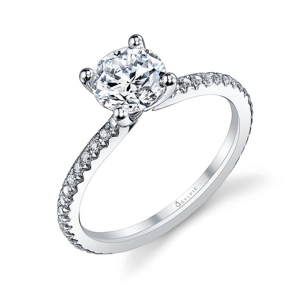Sylvie Collection Doriane Diamond Engagement Ring