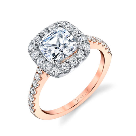 Sylvie Collection Jacalyn Diamond Engagement Ring