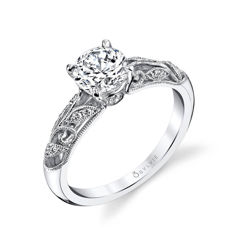 Sylvie Collection Roial Diamond Engagement Ring