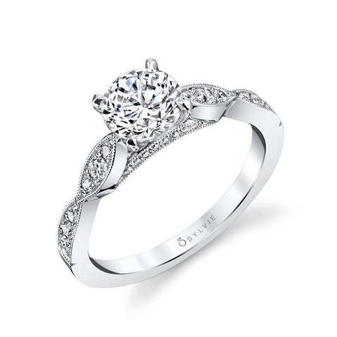 Sylvie Collection Esmé Diamond Engagement Ring