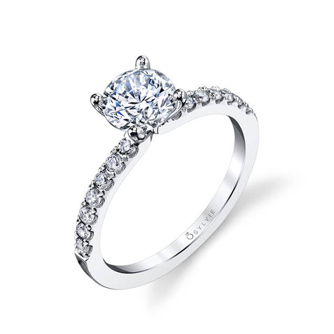 Sylvie Collection Celeste Diamond Engagement Ring