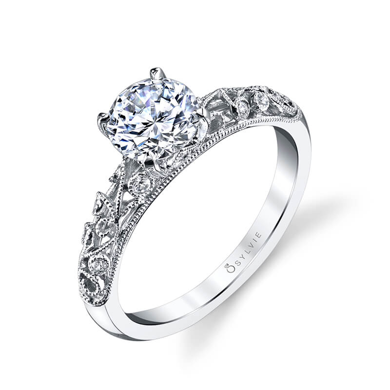 Sylvie Collection Elaina Diamond Engagement Ring