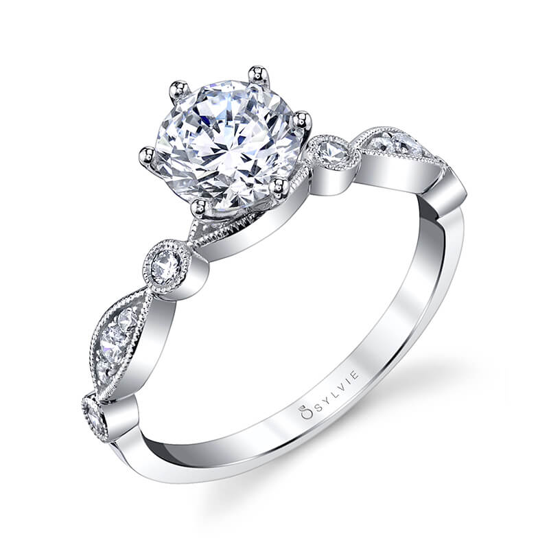 Sylvie Collection Charmánt Diamond Engagement Ring