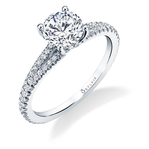 Sylvie Collection Romane Diamond Engagement Ring