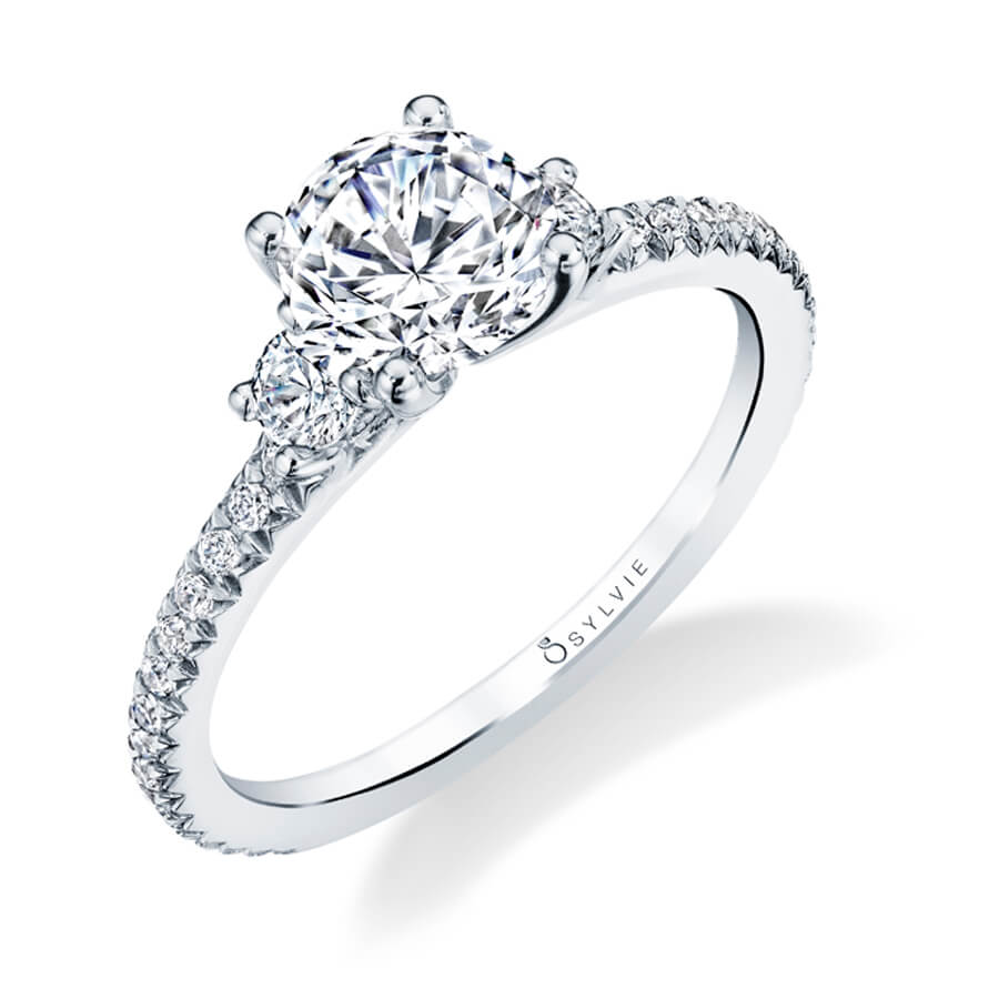 Sylvie Collection Eloise Diamond Engagement Ring