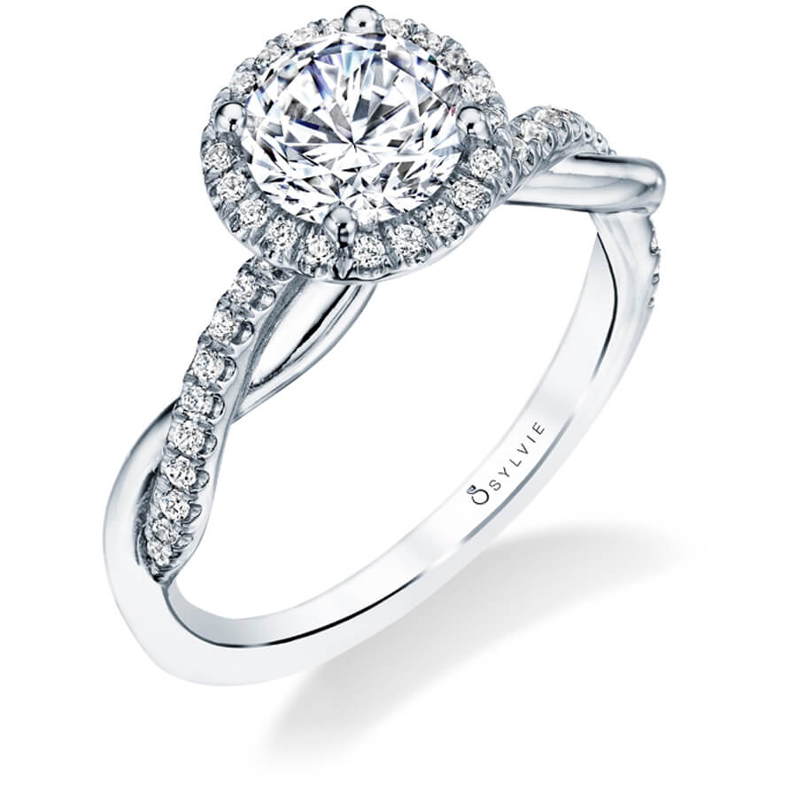 Sylvie Collection Coralie Diamond Engagement Ring