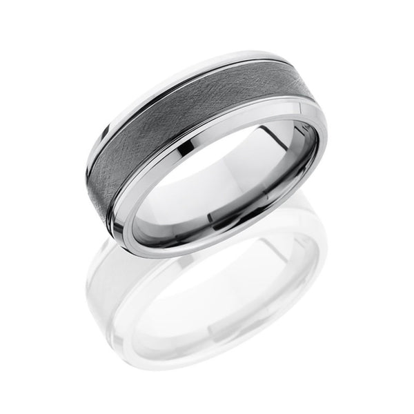 Tungsten and Ceramic 9mm Band