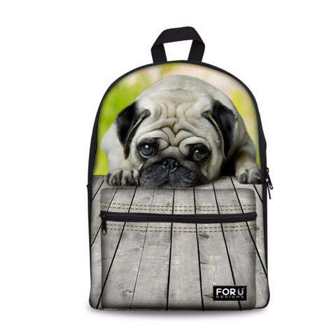 3D Dog Print Backpack