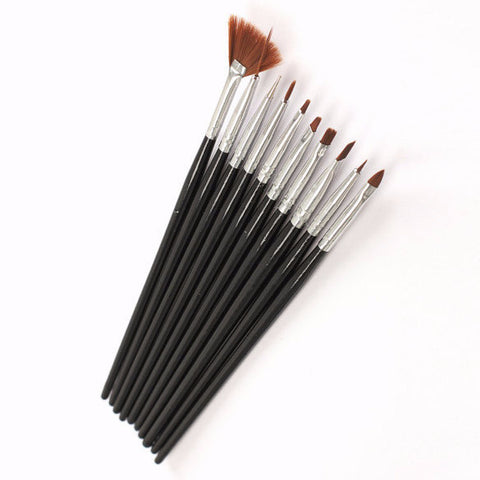 Black Professional Nail Art Brushes