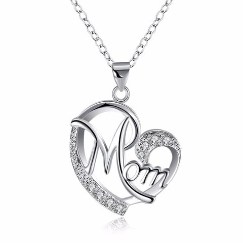 "Love ""MOM"" 925 Sterling Silver Pendant"