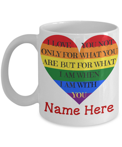 """When I Am With You"" Mug (Insert Name)"