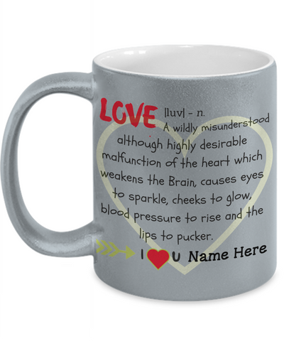 """Love"" Metallic Mug (Insert Name)"