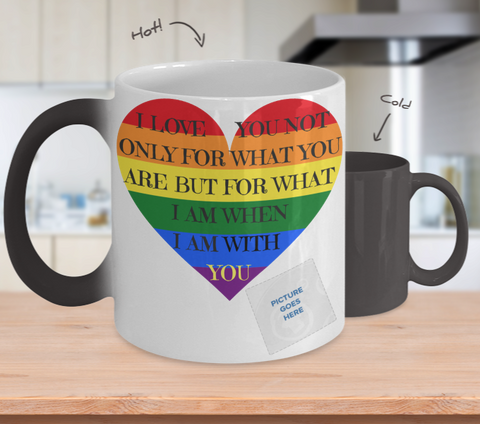 """My Life With You"" Changing Color Mug (Insert Picture)"