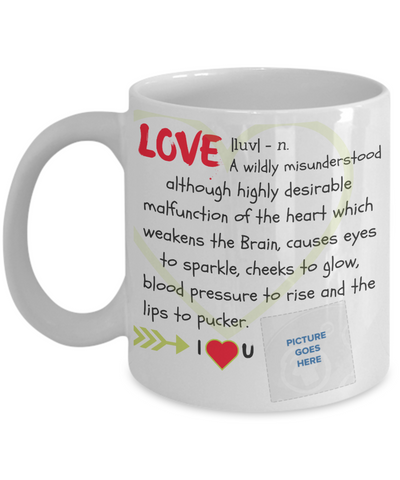 """Love"" Mug (Insert Picture)"