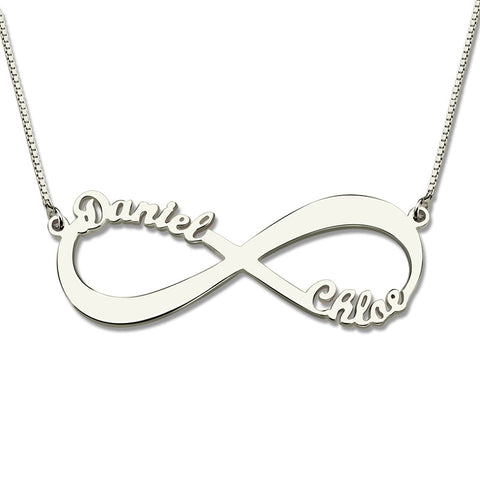 Personalized Infinite Love Two Name Necklace