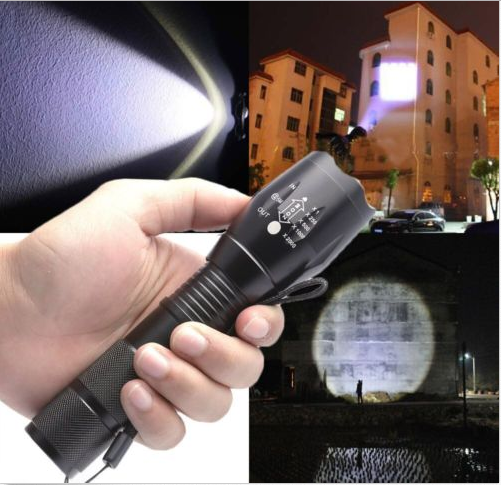 Tactical Police Shadowhawk G700 X800 5000LM T6 LED Flashlight Torch Zoom Lamp
