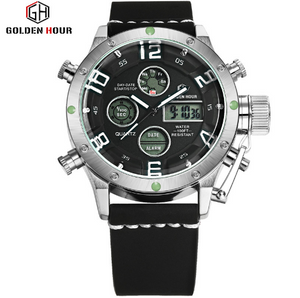 Men's Dual Time Sports Watch