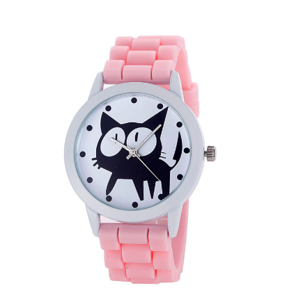 Crazy Cat Sport Watch with Silicone Band
