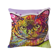 Load image into Gallery viewer, Decorative Pop Art Cat Pillows