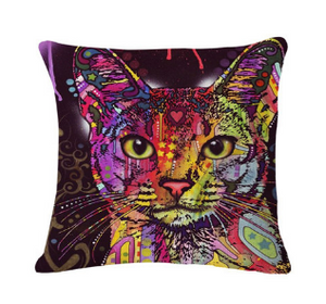 Decorative Pop Art Cat Pillows