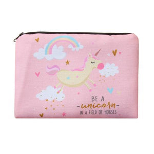 "Stashit Glam Makeup Bag - ""Be a Unicorn In a Field of Horses"""