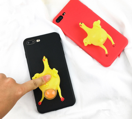 iPhone Squishy Case - Chicken Little Lays An Egg