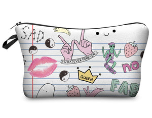 "Stashit Glam Makeup Bag - ""Doodles"""