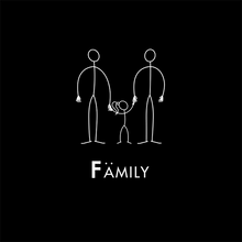 Load image into Gallery viewer, Rainbow Family by STICKIT - Dads & Girl