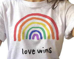 LGBT Rainbow T-shirt | chickletsandbananas.com