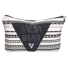 "Load image into Gallery viewer, Stashit Glam Makeup Bag - ""Hakuna Matata"""