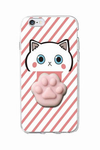 iPhone Squishy Case -Kitty Paw Pink