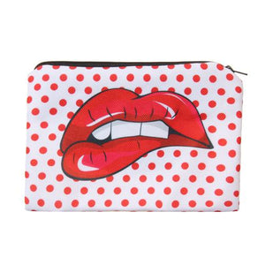 "Stashit Glam Makeup Bag - ""Lip Bitting"""
