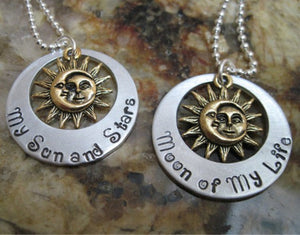Moon Of My Life, My Sun And Stars Chain Necklace