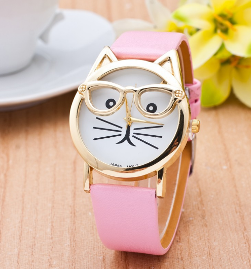Spec Kitty Watch Available in 7 Colors