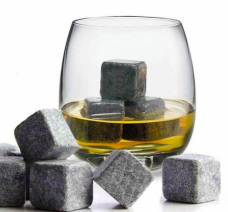 Whiskey Cooling Natural Stones - 6pc set