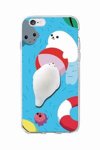 iPhone Squishy Case - Seal Pool Play