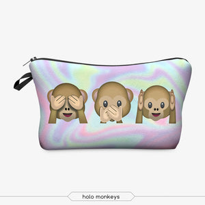 "Stashit Glam Makeup Bag - ""See, Say & Hear No Evil"""