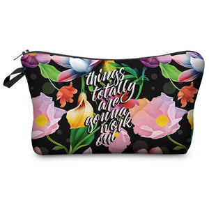 "Stashit Glam Makeup Bag - ""Things Are Going To Work Out"""