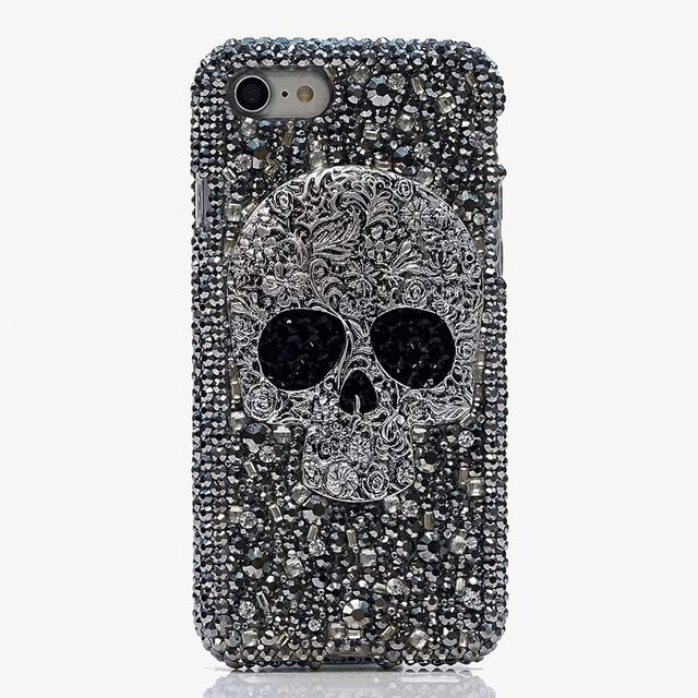 iPhone Bejeweled Rhinestone Case - Dead To The Bone