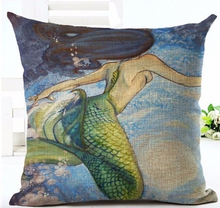 Load image into Gallery viewer, The Mermaid Collection of Decorative Pillows