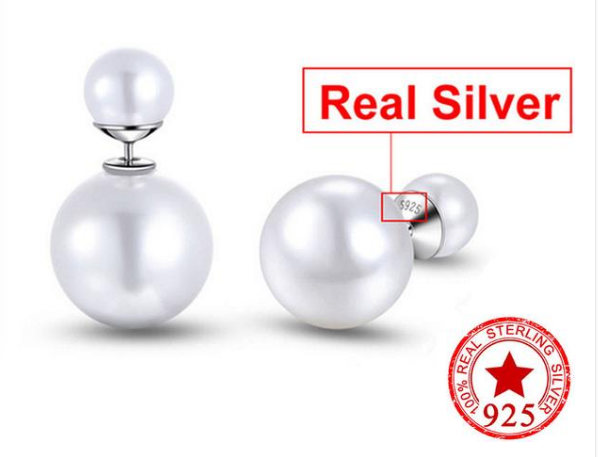 Classic Pearl Double Sided Stud Earrings