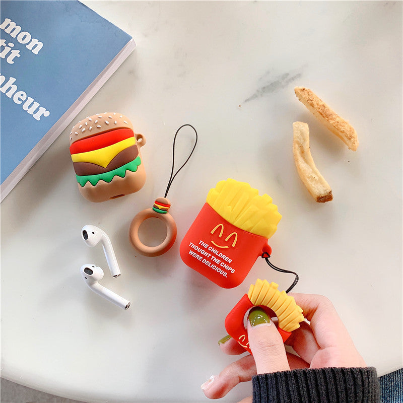 Airpods Silicone Hamburger & Fries Protective Cases