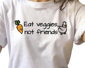 Vegan Shirt - Eat Veggies Not Friends