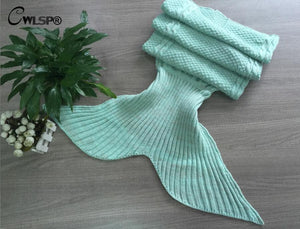 Cozy & Warm Mermaid Tail Blanket